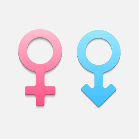火星と金星のシンボル。ベクトル イラスト  イラスト・ベクター素材