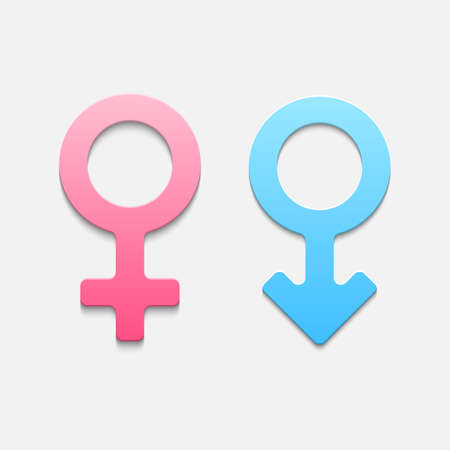 Mars and venus symbols. Vector illustration Vector