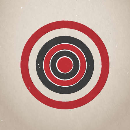 grange: Grange paper target, vector illustration