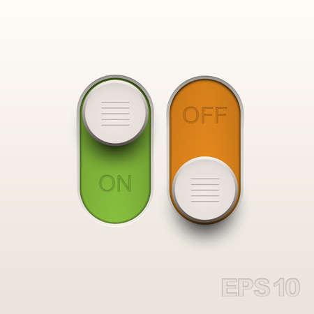 websit: Toggle. Design elements. Vector illustration. Illustration