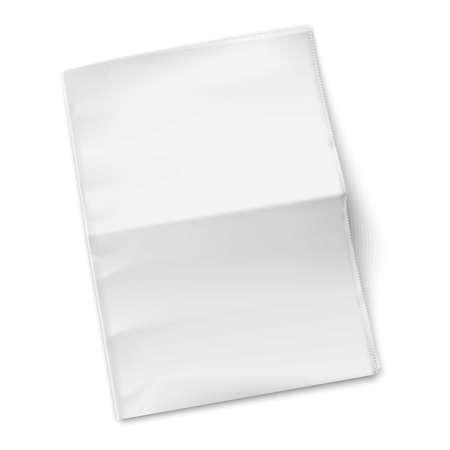 白い背景の上の空白の新聞のテンプレートです。ベクトル イラスト。EPS10。