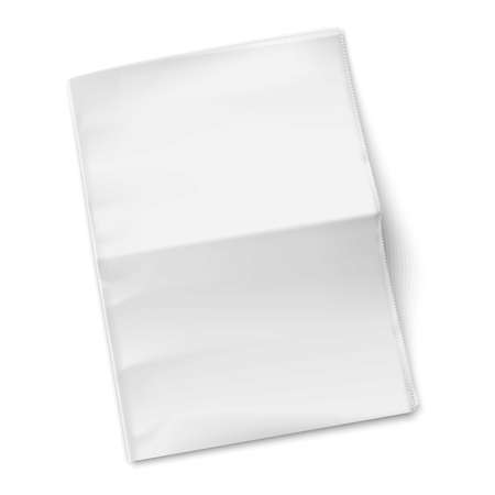 tabloid: Blank newspaper template on white background. Vector illustration. EPS10.