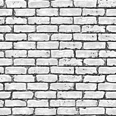 white stones: Brick wall seamless pattern. Vector illustration. Illustration