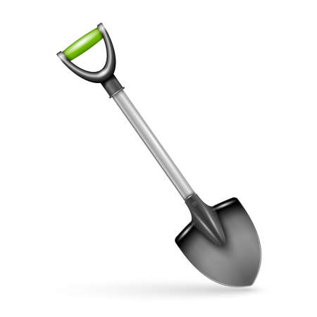 implements: Garden spade, isolated on white background. Vector illustration.