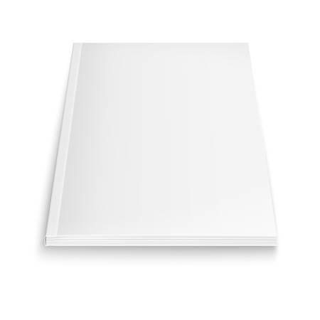 ソフトな影と白い背景の上の空の雑誌テンプレート。ベクトル イラスト。  イラスト・ベクター素材