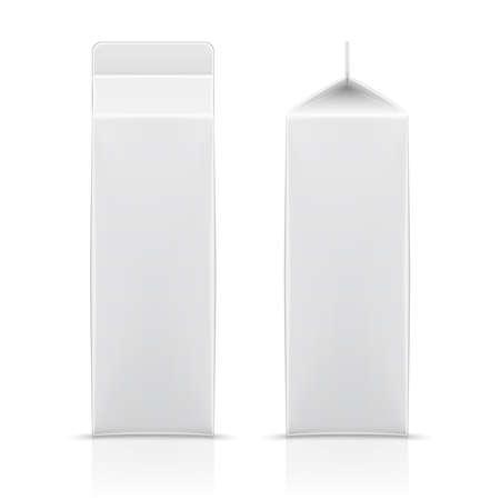 段ボールれんが造りの白い日記製品、ジュース、飲料用パッケージです。あなたのデザインの準備ができて。包装のコレクションです。ベクトル イ