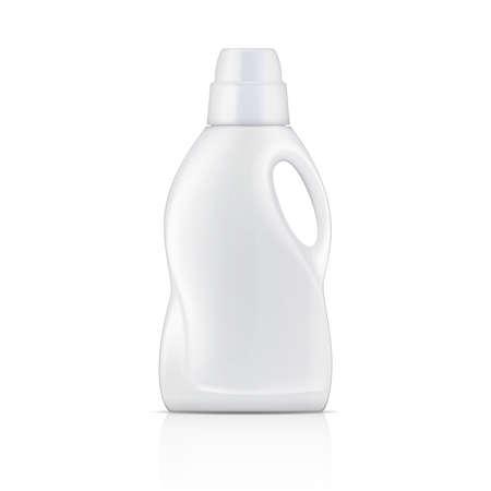 detersivi: Bottiglia bianca per detersivo liquido Vettoriali