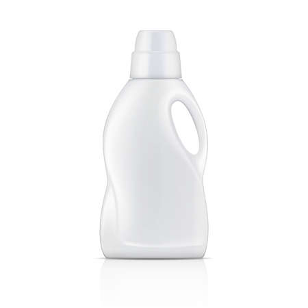 product packaging: White bottle for liquid laundry detergent