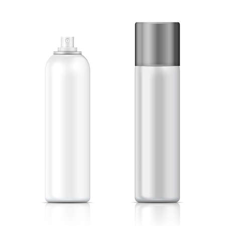 cosmetics: White and silver sprayer bottle template
