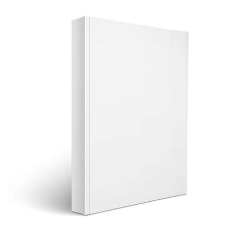 soft object: Blank vertical softcover book template.