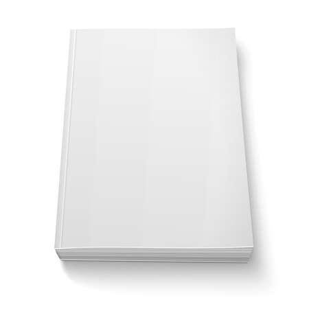 흰색에 빈 소프트 커버 책 템플릿입니다.
