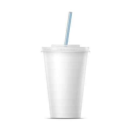 disposable: White paper soda cup template.