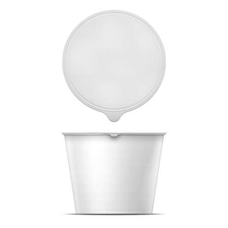White instant noodles bowl template. 일러스트
