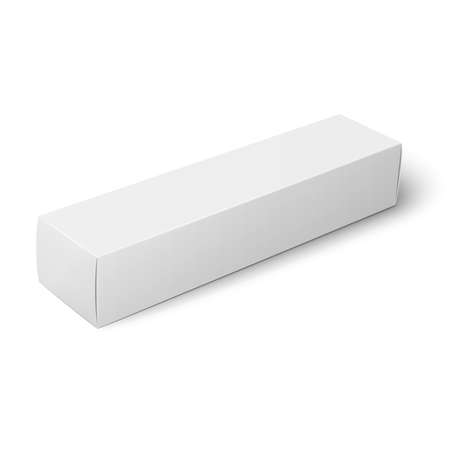 White paper box template. Stock Illustratie