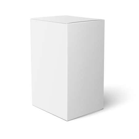 흰 종이 상자 템플릿. 일러스트