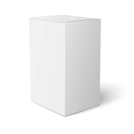 product box: White paper box template. Illustration