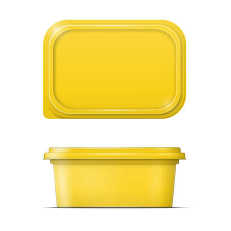 processed food: Yellow margarine spread template.