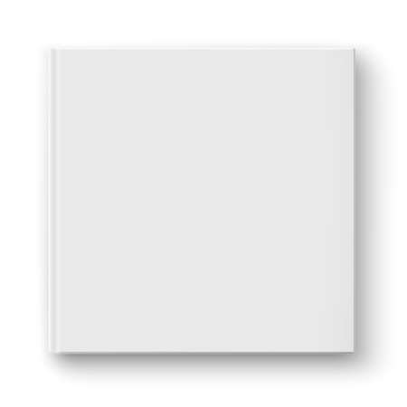 periodical: Blank square album template. Illustration