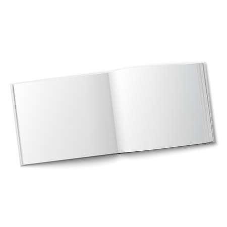 hardcover: Blank spread album template.