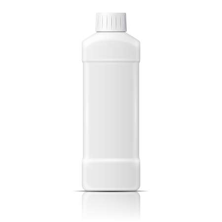 White plastic bottle for dishwashing liquid.