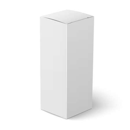 흰색 배경 포장 컬렉션 서 빈 수직 종이 또는 판지 상자 템플릿입니다. 벡터 일러스트 레이 션. 일러스트