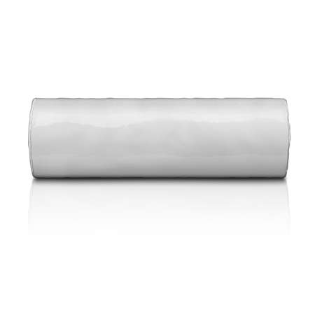 crisp: Template of cylindrical package for biscuits or cookies, with white plastic, isolated on white background.