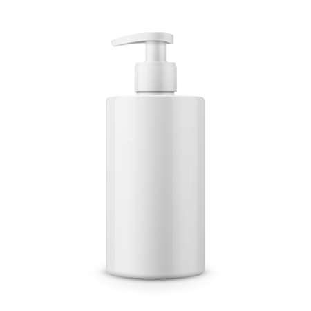 White plastic bottle template for liquid soap.