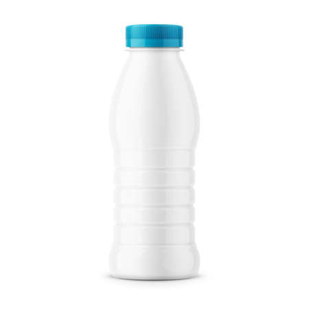 White milk bottle template.