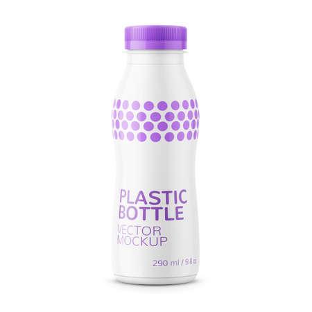 白いミルク ボトル テンプレート。  イラスト・ベクター素材