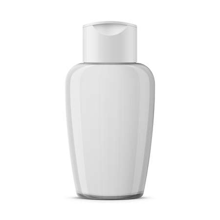 Clear plastic cosmetic bottle template.