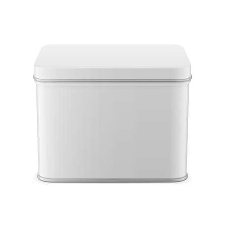 Rectangular glossy tin can template. Reklamní fotografie - 83002003