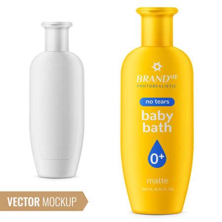 Shampoo bottle template. Vectores