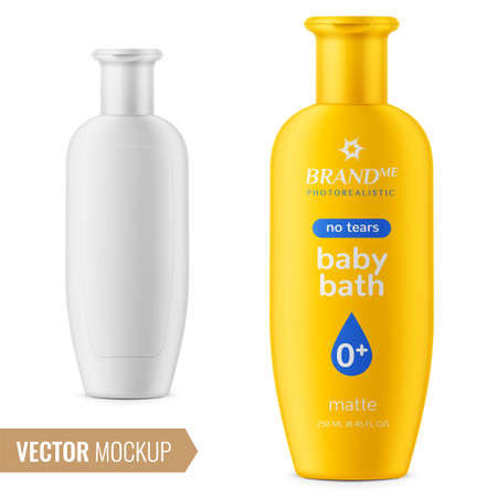 Shampoo bottle template. Çizim