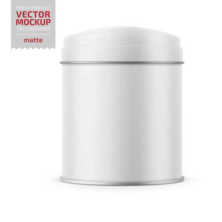Round matte tin can template.