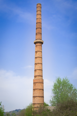 incinerator: Ceramic industrial incinerator abandoned
