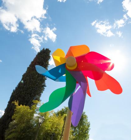 reminiscent: pinwheel reminiscent of childhood games Stock Photo