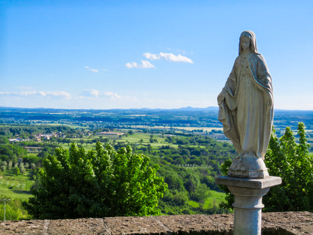 piety: madonna just outside otricoli Stock Photo