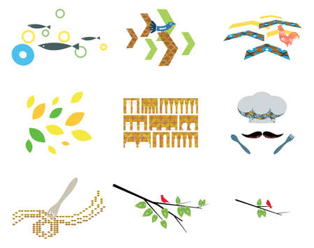 scandinavian: Scandinavian Inspired Organic Themed Illustration Illustration