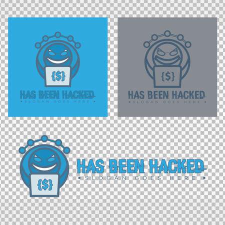 hacker. has been hacked. logo template. vector