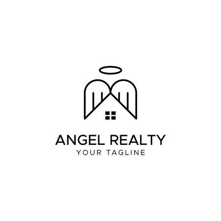 ANGEL REALTY vector logo template