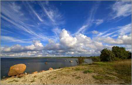 Blue sky over Estonian island Saaaremaa