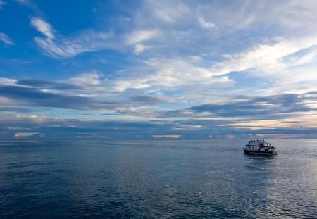 sunset on sea at Philippines 版權商用圖片