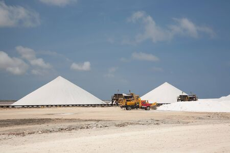 carribean: salt mining Bonairo Carribean island