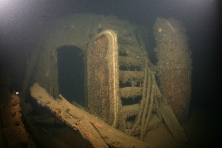 boat accident: Baltic Sea underwater diving Ship Wreck photo