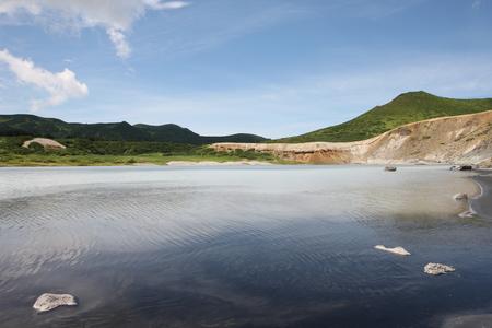 Kunasir Kurils islands Rocks Russian Federation Stock Photo