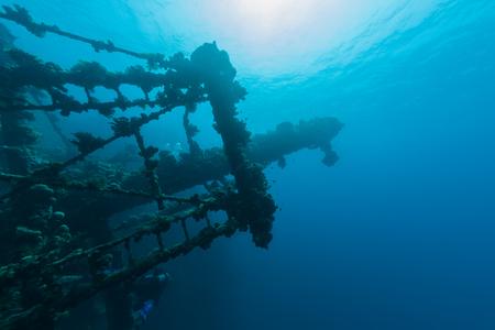 old ship: sunken ship wreck underwater diving Sudan Red Sea