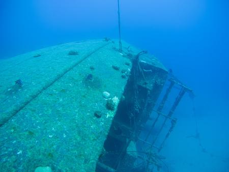 ship wreck in Hilma Hooker Bonaire island Stock Photo