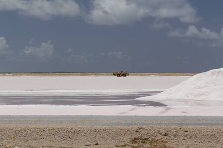 caribbean salt lake mining work Bonaire island Netherlandes Antilles