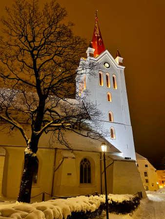 Cesis city ice winter view Vidzeme Latvia Banque d'images
