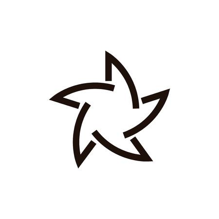 Star propeller abstract line logo Illustration